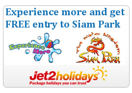 Unlimited free entry to Siam Park with jet2holidays